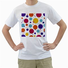 Background Polka Dot Men s T-Shirt (White) (Two Sided)