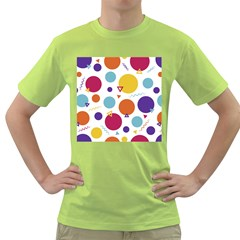 Background Polka Dot Green T-Shirt