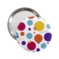 Background Polka Dot 2.25  Handbag Mirrors