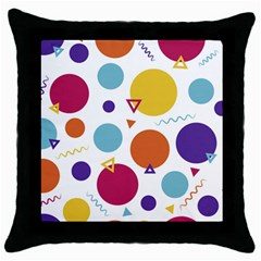 Background Polka Dot Throw Pillow Case (Black)