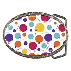 Background Polka Dot Belt Buckles