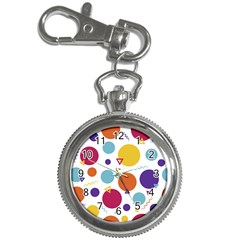 Background Polka Dot Key Chain Watches
