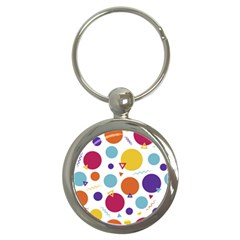 Background Polka Dot Key Chain (Round)