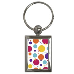 Background Polka Dot Key Chain (Rectangle)