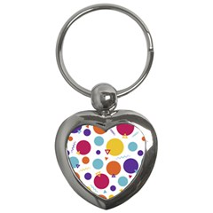 Background Polka Dot Key Chain (Heart)