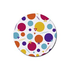 Background Polka Dot Rubber Coaster (Round)