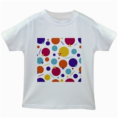 Background Polka Dot Kids White T-Shirts