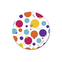 Background Polka Dot Magnet 3  (Round)