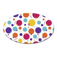 Background Polka Dot Oval Magnet