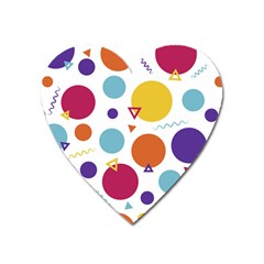 Background Polka Dot Heart Magnet