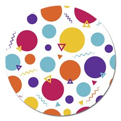 Background Polka Dot Magnet 5  (Round)