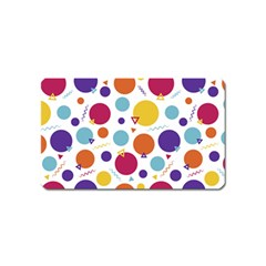 Background Polka Dot Magnet (Name Card)