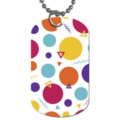 Background Polka Dot Dog Tag (One Side)