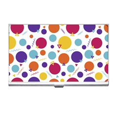 Background Polka Dot Business Card Holder