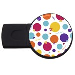 Background Polka Dot USB Flash Drive Round (2 GB) Front