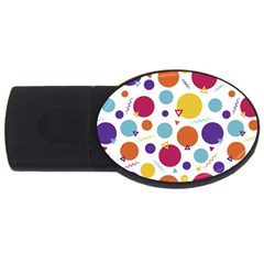 Background Polka Dot USB Flash Drive Oval (2 GB)