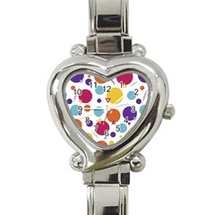 Background Polka Dot Heart Italian Charm Watch