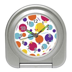 Background Polka Dot Travel Alarm Clock