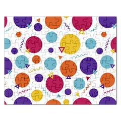 Background Polka Dot Rectangular Jigsaw Puzzl