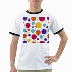 Background Polka Dot Ringer T