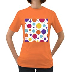 Background Polka Dot Women s Dark T-Shirt