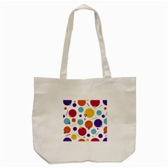Background Polka Dot Tote Bag (Cream)