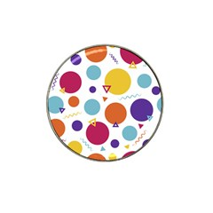 Background Polka Dot Hat Clip Ball Marker (4 pack)