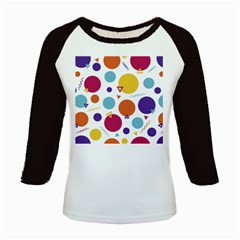 Background Polka Dot Kids Baseball Jerseys