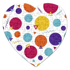 Background Polka Dot Jigsaw Puzzle (Heart)