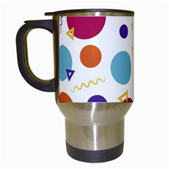 Background Polka Dot Travel Mugs (White)