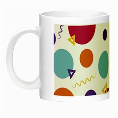 Background Polka Dot Night Luminous Mugs