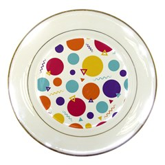 Background Polka Dot Porcelain Plates