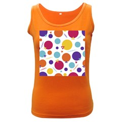 Background Polka Dot Women s Dark Tank Top