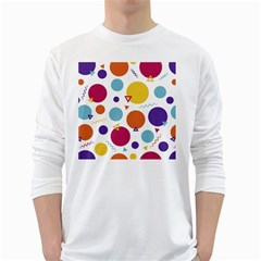 Background Polka Dot Long Sleeve T-Shirt