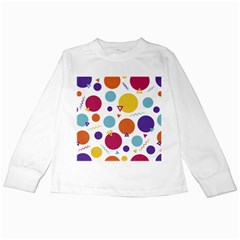 Background Polka Dot Kids Long Sleeve T-Shirts