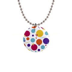 Background Polka Dot 1  Button Necklace
