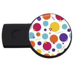 Background Polka Dot USB Flash Drive Round (4 GB)