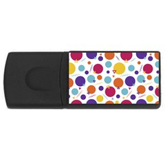 Background Polka Dot Rectangular USB Flash Drive