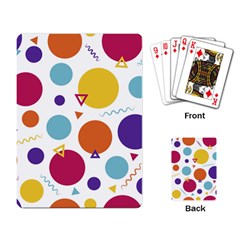 Background Polka Dot Playing Cards Single Design