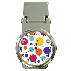 Background Polka Dot Money Clip Watches