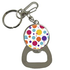 Background Polka Dot Bottle Opener Key Chain