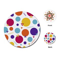 Background Polka Dot Playing Cards (Round)