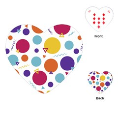 Background Polka Dot Playing Cards (Heart)
