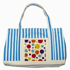 Background Polka Dot Striped Blue Tote Bag
