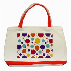 Background Polka Dot Classic Tote Bag (Red)