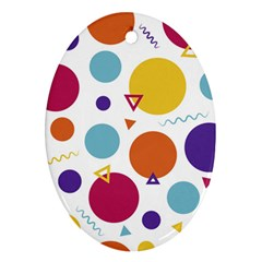 Background Polka Dot Oval Ornament (Two Sides)