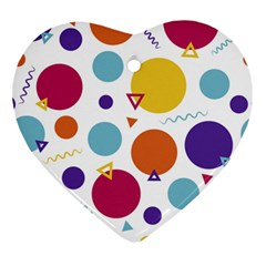 Background Polka Dot Heart Ornament (Two Sides)