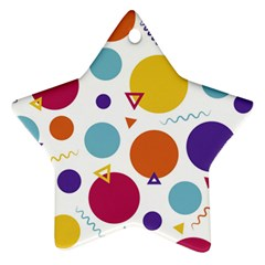 Background Polka Dot Star Ornament (Two Sides)