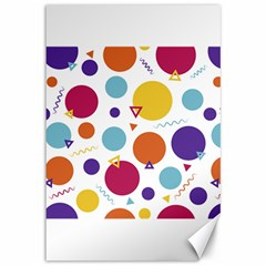 Background Polka Dot Canvas 12  x 18