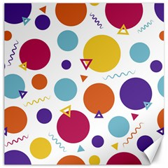 Background Polka Dot Canvas 16  x 16